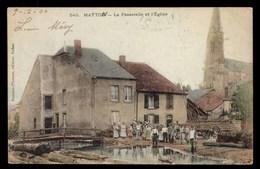 Matton, La Passerelle Et L'Eglise, Animé (08) - Autres Communes