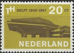 NETHERLANDS 1967 125th Anniv Of Delft Technological University - 20c Assembly Hall MNH - 1949-1980 (Juliana)