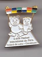 Pin's  2 ème Festival International Du Pin's Villars De Lans Corrençon Ours  Réf 7083JL - Steden