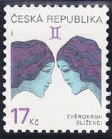 Timbre-poste Gommé Neuf** - Signe Du Zodiaque Gémeaux Zodiac Gemini - N° 305 (Yvert) - République Tchèque 2002 - Tchéquie