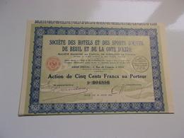 HOTELS ET SPORTS D'HIVER DE BEUIL ET DE LA COTE D'AZUR (1931) NICE - Unclassified