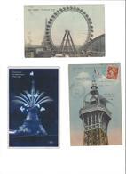 LOT DE CARTES POSTALES  LA TOUR EIFFEL  PARIS      ****    A  SAISIR    ***** - Cartes Postales