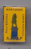 Pin's AMCP  2 ème Bourse Cartes Postales Montargis Dpt 45 Réf 7290JL - Città