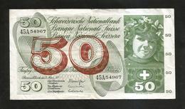 SVIZZERA / SUISSE / SWITZERLAND - NATIONAL BANK - 50 FRANCS / FRANKEN (1973) APFELERNTE - Suisse