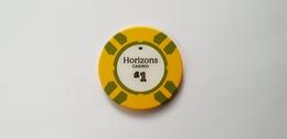 Horizons Casino London UK 1 GBP Casino Chip Jeton - Casino