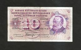 SVIZZERA / SUISSE / SWITZERLAND - NATIONAL BANK - 10 FRANCS / FRANKEN (1972) G. KELLER - Suisse