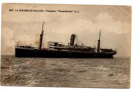 CP De La Rochelle Pallice Paquebot Elisabethville (9.11.1917) Pour Armée Belge En Campagne Postes Militaires - Guerre 14-18