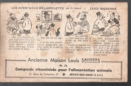 Juvisy Sur Orge (91 Essonne) Buvard LOUIS SANDERS  ALIMENTATION ANIMALE (PPP9858) - Animaux