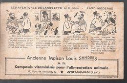 Juvisy Sur Orge (91 Essonne) Buvard LOUIS SANDERS  ALIMENTATION ANIMALE (PPP9858) - Animals