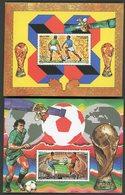 DJIBOUTI 2 Blocs Spéciaux Sur Papier Gommé De La Poste Aérienne N° 224 à 225 COUPE DU MONDE DE FOOTBALL MEXICO (1986) - Fußball-Weltmeisterschaft