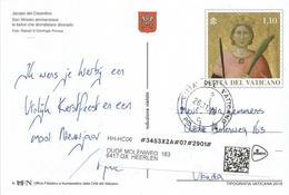 Vatican Vaticano Vatikan 2018 Painter Jacopo Del Casentino Euro 1.10 Ganzsache Postal Stationary Postcard - Entiers Postaux