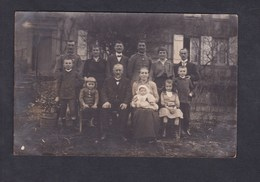 Carte Photo Groupe Militaires Et Famille  Felix Archen Marange Silvange Moselle 57 - Otros Municipios
