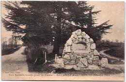 PYRENEES ATLANTIQUES - ORTHEZ -1er EMPIRE - Carte Du Monument Commemoratif De La Bataille D'Othez ( Route Orthez A Dax) - Orthez
