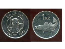ISLANDE  1 Krona  1999 - Islandia