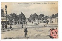 NEUILLY Sur SEINE  (cpa 92)  La Route De La Révolte, Vue Prise De La Porte Maillot   -  L 1 - Neuilly Sur Seine