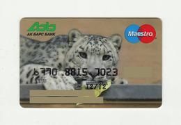 AK Bars Bank RUSSIA  Snow Leopard Maestro Expired - Tarjetas De Crédito (caducidad Min 10 Años)