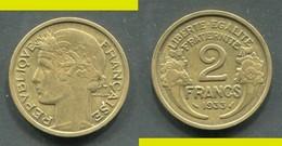 2 FRANCS MORLON 1933 TTB - I. 2 Francs