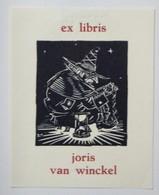 Ex-libris Illustré Belgique XXème - Joris Van Winckel - Ex Libris