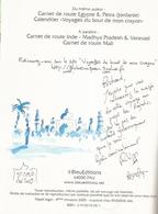 Dédicace De Philippe Bichon - Inde (Rajasthan) Carnet De Route - Livres, BD, Revues