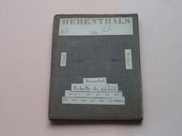 HERENTHALS Lille / Gheel / Berlaer : 1/20.000 () Oude 2de Hands Kaart Op Katoen / Cotton ) België ( Herentals ) ! - Europe