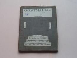 OOSTMALLE Hoogstraeten / Brecht / Beersse : 1/20.000 () Oude 2de Hands Kaart Op Katoen / Cotton ) België () ! - Europe