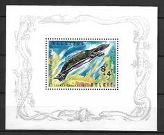 BELGIQUE     -  1965  .  Bloc-Feuillet . Y&T N° 39 *.  Zoo D' Anvers.  Sauriens / Reptiles Acquatiques. - Blokken 1962-....