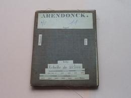 ARENDONCK Poppel / Turnhout / Postel / Rethy : 1/20.000 () Oude 2de Hands Kaart Op Katoen / Cotton ) België (Arendonk) ! - Europe