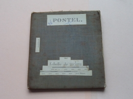 POSTEL Arendonck / Moll : 1/20.000 () Oude 2de Hands Kaart Op Katoen / Cotton ) België () ! - Europe