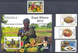 Angola 2015 EXPO In Milan. Fruit, 4 M. Block - Angola