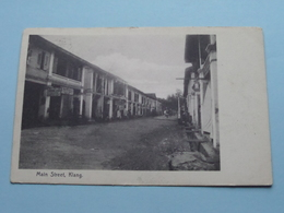 Main Street KLANG ( N° 101 The Federal Rubber Stamp C° Kuala Lumpur ) Anno 1909 ( Zie/voir/see Photo ) ! - Malaysia