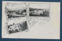 Gruss Aus ST PETER  1898 - 2 Scans - Slovénie