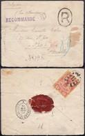 IRAN/PERSE 1895 Yv 80 Sur Lettre Recommande De TEHERAN Vers BRUXELLES (DD) DC-0991 - Iran