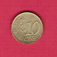 IRELAND   10 EURO CENTS 2002 (KM # 35) #5227 - Ireland