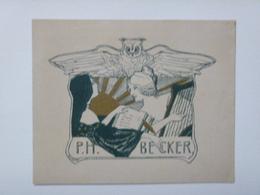 Ex-libris Illustré Belgique XXème - P.H. BECKER - Ex-libris