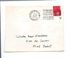 FLAMME CHAMPIONNAT DU MONDE DE VOLTIGE AERIENNE SALON DE PROVENCE 1972 - Marcophilie (Lettres)