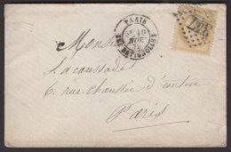 PARIS: Pli Avec 15c Céres Dentelé Oblt Losange 347 + CàDate Type 17 PARISLES BATIGNOLLES P PARIS - 1849-1876: Période Classique