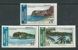 Comores P.A. N° 62 / 64  X Paysages, Les 3 Valeurs Trace De Charnière SinonTB - Comoro Islands (1950-1975)