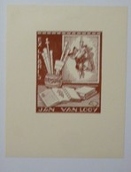 Ex-libris Illustré Belgique XXème - JAN VAN LOOY - Ex Libris