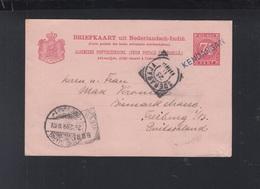 Netherlands India Stationery 1899 Kendangan To Germany - Netherlands Indies