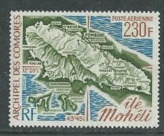 Comores P.A. N° 67 X  Carte De L'ile Mohéli  Trace De Charnière SinonTB - Comoro Islands (1950-1975)