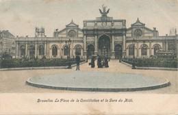 CPA - Belgique - Bruxelles - Brussels - La Place De La Constitution Et La Gare Du Midi - Places, Squares