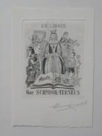 Ex-libris Illustré Belgique XXème - Ger SCHMOOK-TERNEUS - Ex Libris
