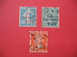 Timbres Surchargés N° 246 à 248 Caisse D'Amortissement 1927   Oblitéré  TB - Caisse D'Amortissement