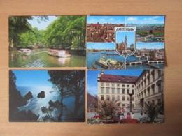 France, Hollande, Italie, Allemagne - Lot De 8 Cartes Postales Modernes (CPM) Dont Animées, Non-circulées - Cartes Postales