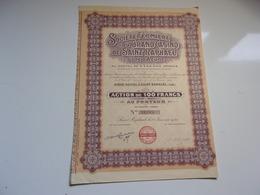 Fermiere Du Grand CASINO DE SAINT RAPHAEL (var) 100 Francs,capital 2,5 Millions - Unclassified