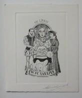 Ex-libris Illustré Belgique XXème - W.J.C. VAN EYCK - Ex Libris