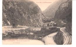 Cauterets (Hautes Pyrénées)-1924-Route De Pierrefitte à Cauterets-Le Limaçon-la Route-la Voie De Chemin De Fer (ferrée) - Cauterets