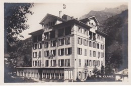 300997Zwitserland, St. Niklaus Hotel ''NIKLAUS'' (FOTO KAART) - VS Valais