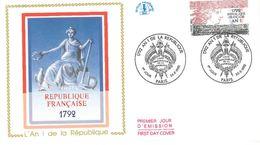FDC 1792 L'An 1 De La République : 200ème Anniversaire 5 Enveloppes (75 Paris 26/09/1992) - FDC