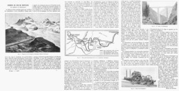 """CHEMIN De FER De MONTAGNE De """" ZERMATT Au GORNERGRAT """" 1899 - Chemin De Fer"""